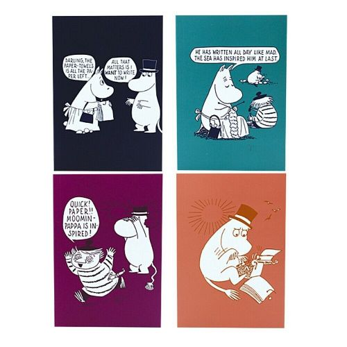 Moomins I Want To Write Now A6 Notebooks Note Pads - Set of 4